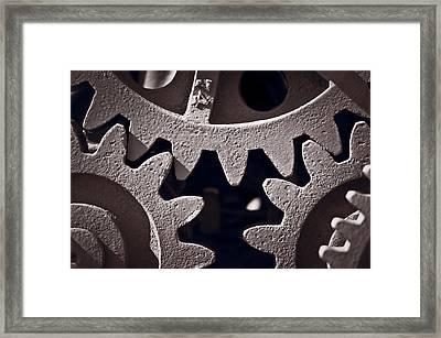 Gears Number 2 Framed Print by Steve Gadomski