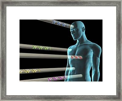 Gene Therapy, Conceptual Artwork Framed Print by Laguna Design