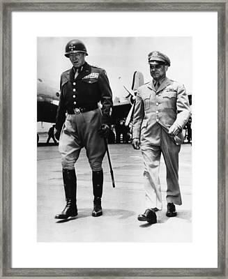 General George S. Patton Jr Framed Print by Everett