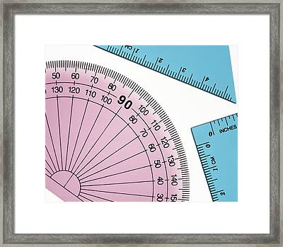 Geometry Set Framed Print by Lawrence Lawry