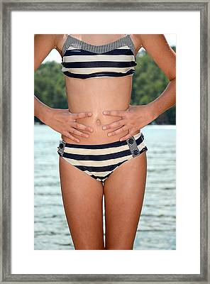 Girl In Bikini Framed Print by Susan Leggett
