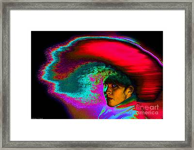 Girl Tossing Her Red Hair 3 Framed Print by Warren Sarle