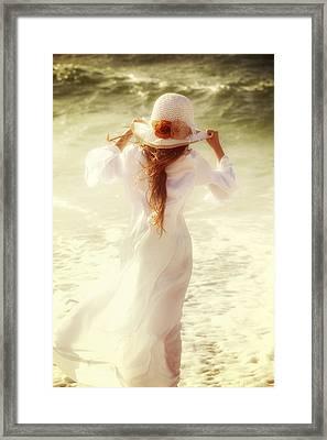 Girl With Sun Hat Framed Print by Joana Kruse