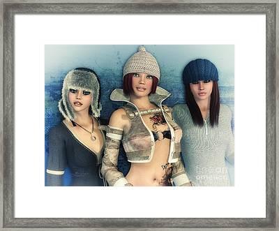 Girlfriends Framed Print by Jutta Maria Pusl
