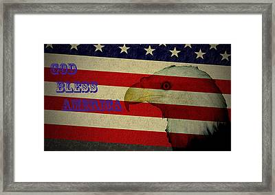 God Bless America Framed Print by Bill Cannon