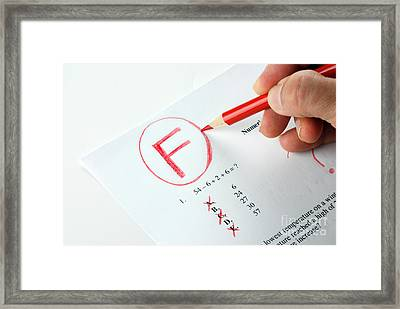 Grading Framed Print by Photo Researchers, Inc.