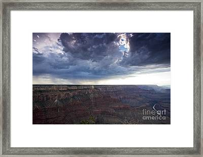 Grand Canyon As Seen From Mohave Point Framed Print by Terry Moore