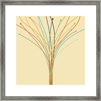Graphic Tree Framed Print by Setsiri Silapasuwanchai