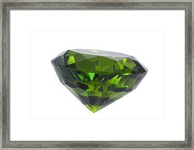 Great Emerald Isolated Framed Print by Atiketta Sangasaeng