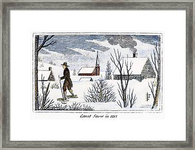 Great Snow Of 1717 Framed Print by Granger