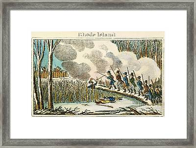 Great Swamp Fight, 1675 Framed Print by Granger