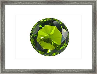 Green Gem Isolated Framed Print by Atiketta Sangasaeng
