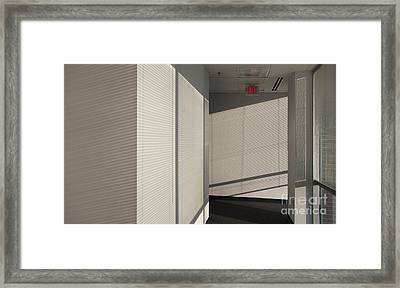 Hallway Of An Office Building Framed Print by Will & Deni McIntyre