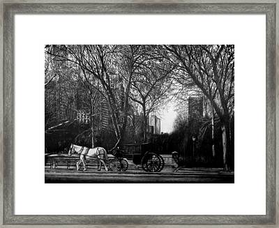 Hansom Cab Framed Print by Jerry Winick