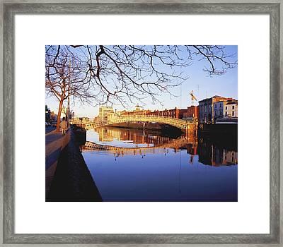 Hapenny Bridge, River Liffey, Dublin Framed Print by The Irish Image Collection