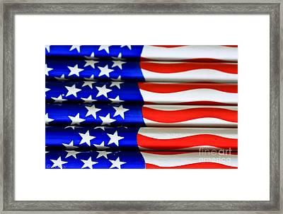 Happy 4th Framed Print by Tracy  Hall