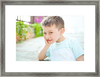Happy Child Framed Print by Tom Gowanlock