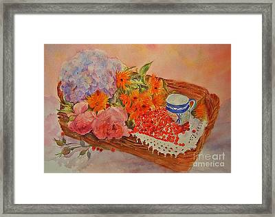 Harvest Framed Print by Beatrice Cloake