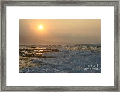 He Inoa Wehi No Hookipa Framed Print by Sharon Mau