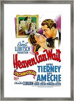 Heaven Can Wait, Gene Tierney, Don Framed Print by Everett