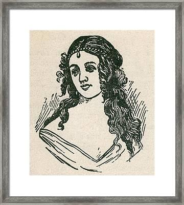 Helen Jewett 1813-1836 Was An New York Framed Print by Everett