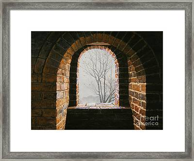 Here Now Framed Print by Lynette Cook