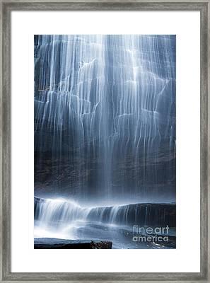 Hickory Nut Falls North Carolina Framed Print by Dustin K Ryan