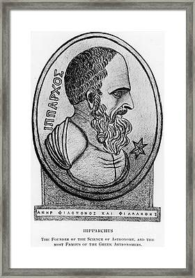 Hipparchus, Greek Astronomer Framed Print by Photo Researchers, Inc.