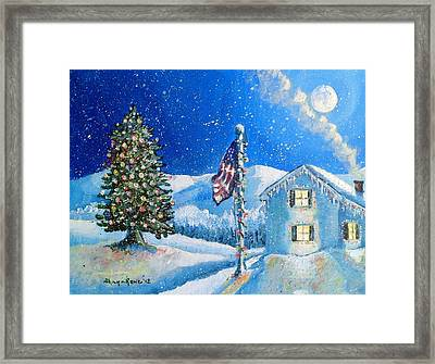Home For The Holidays Framed Print by Shana Rowe Jackson