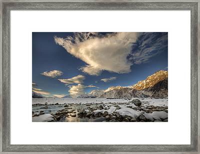 Hooker River In The Valley At Tasman Framed Print by Colin Monteath