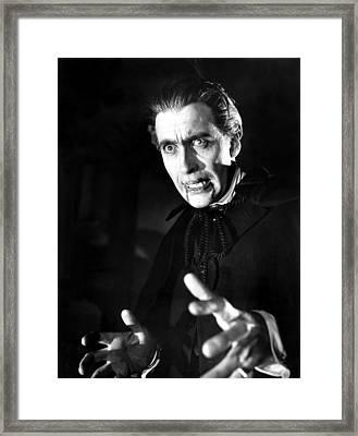 Horror Of Dracula, Christopher Lee, 1958 Framed Print by Everett