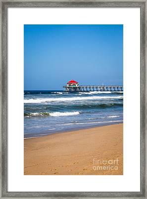 Huntington Beach Pier In Orange County California Framed Print by Paul Velgos