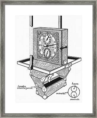 Huygens Marine Clock Framed Print by Science Source
