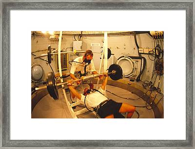 Hyperbaric Training Research Framed Print by Alexis Rosenfeld