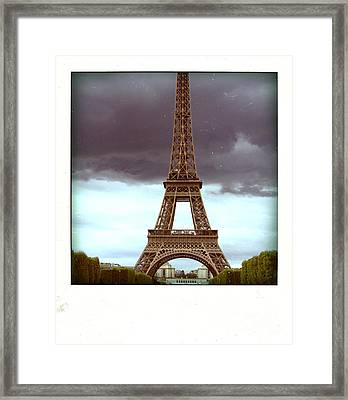 Illustration Of Eiffel Tower Framed Print by Bernard Jaubert