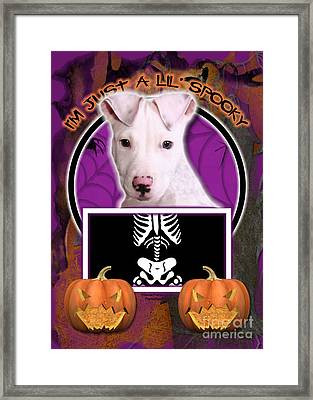 I'm Just A Lil' Spooky Pitbull  Framed Print by Renae Laughner