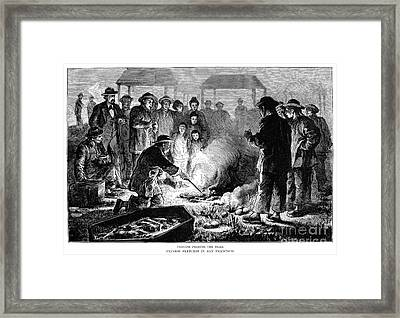 Immigrants: Chinese Burial Framed Print by Granger