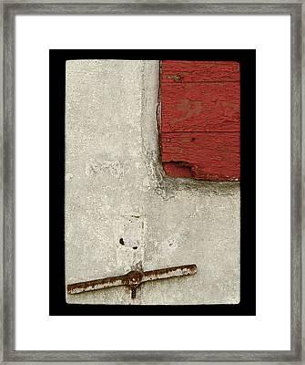 In The Balance Framed Print by Odd Jeppesen