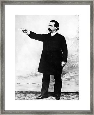Industrialist Samuel Gompers, President Framed Print by Everett