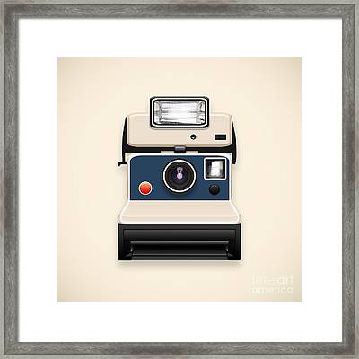 Instant Camera With A Blank Photo Framed Print by Setsiri Silapasuwanchai