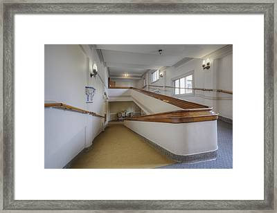 Interior Hall And Stairs Of A Large Framed Print by Douglas Orton