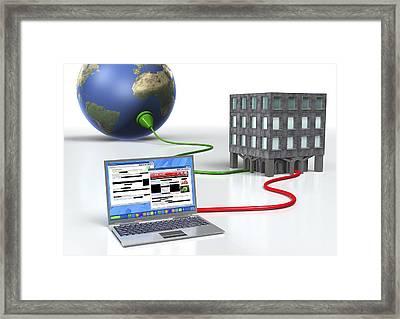 Internet Censorship, Conceptual Artwork Framed Print by David Mack