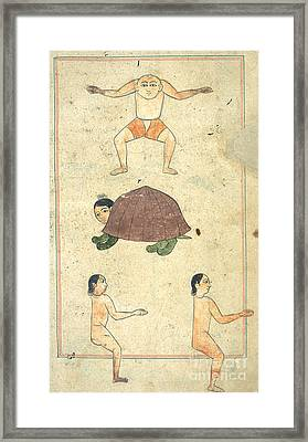 Islamic Mythical Creatures, 17th Century Framed Print by Photo Researchers