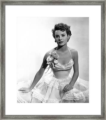 It Happens Every Spring, Jean Peters Framed Print by Everett