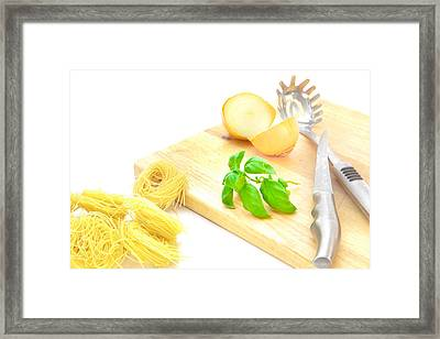 Italian Food Framed Print by Tom Gowanlock