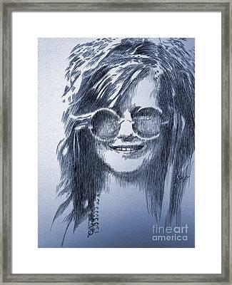 Janis Joplin Framed Print by Robbi  Musser