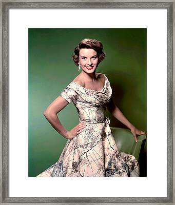 Jean Peters, Ca. 1950s Framed Print by Everett