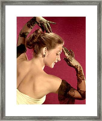 Jean Peters, Ca. Late 1940s Framed Print by Everett