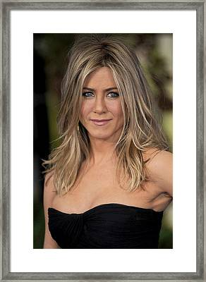 Jennifer Aniston At Arrivals For Just Framed Print by Everett
