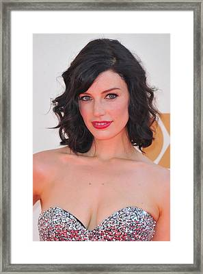 Jessica Pare At Arrivals For The 63rd Framed Print by Everett